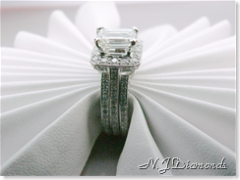 Emerald cut diamond engagement ring white gold N.J. Diamonds