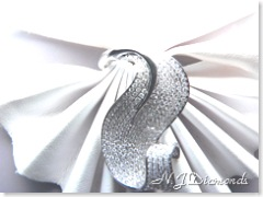 Pave set diamond ring white gold