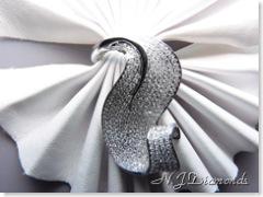 White gold diamond ring Pave diamonds