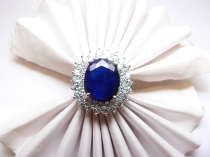 Sapphire, and diamond ring