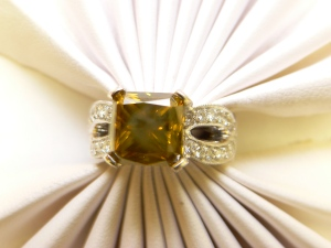 Diamond engagement ring 6.09ct center stone