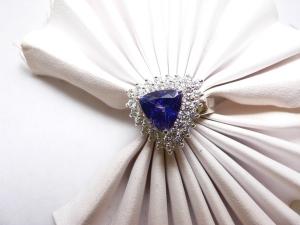 Tazanite, and diamond ring N.J. Diamonds