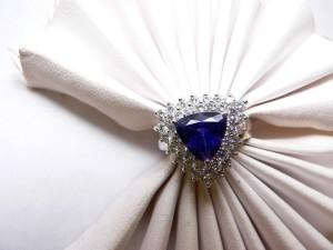 Tazinite diamond ring