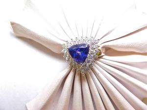 Taninite diamond ring