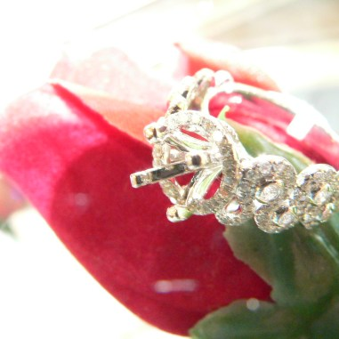 White Gold Diamond Mounting