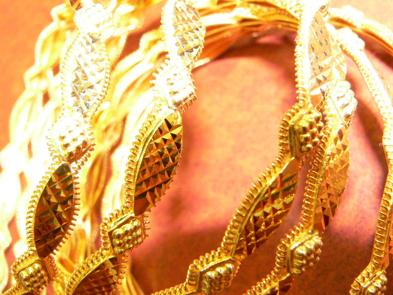 New Set 21kt Gold Bangles