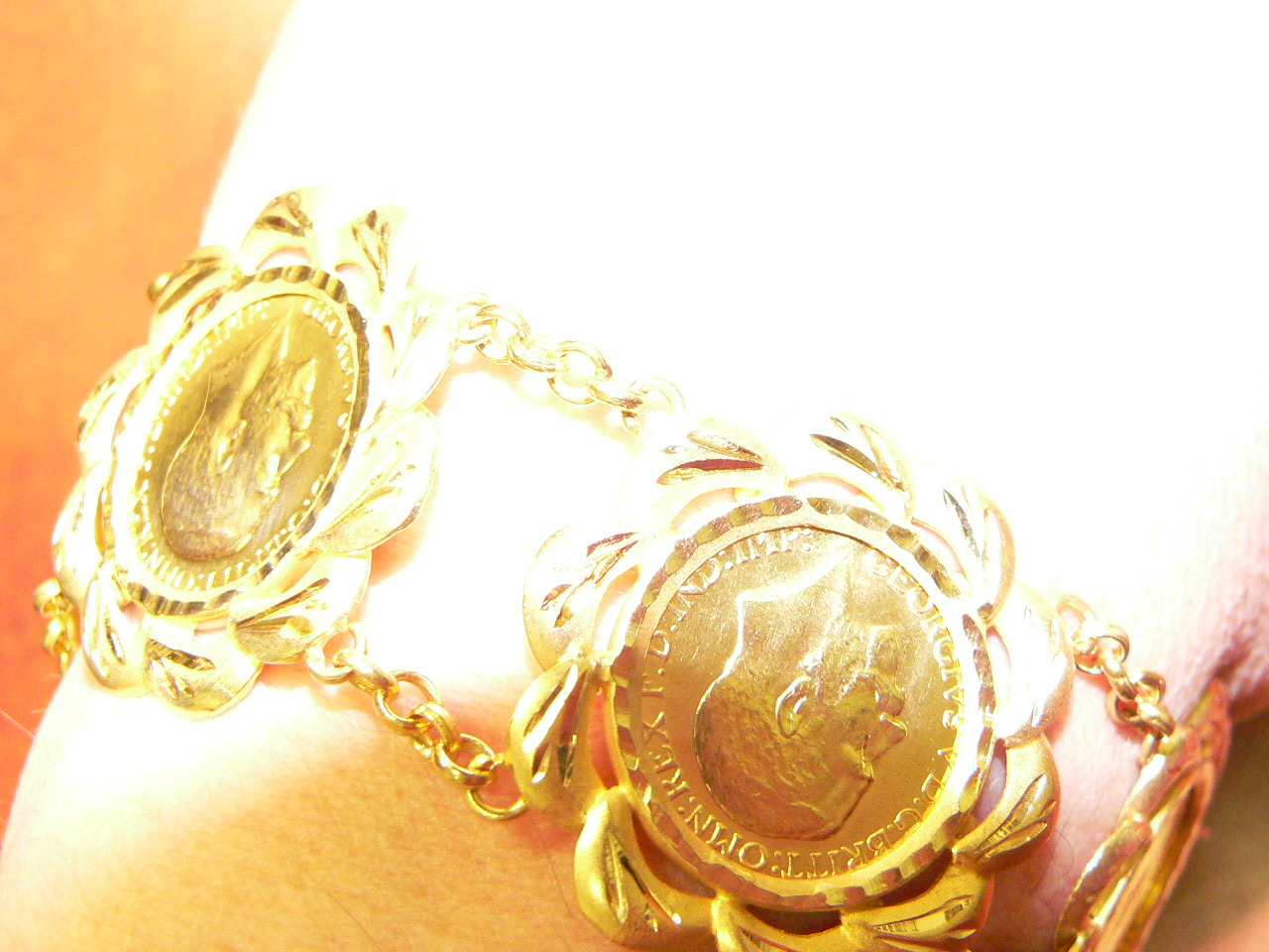 English Coin Bracelet N.J. Diamonds
