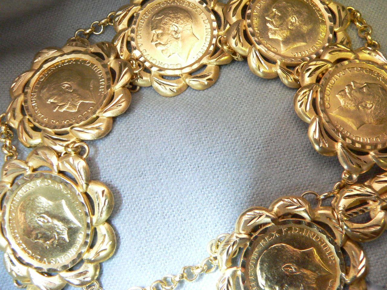 English coin braclet custom order.