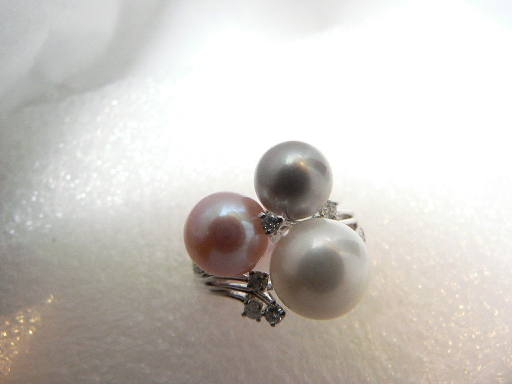 Pink, White and Gray Pearls