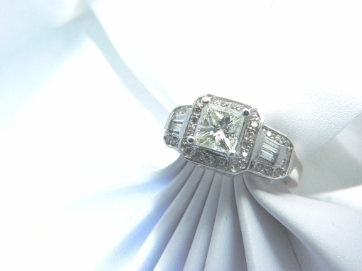 white gold diamond engagement ring Michigan