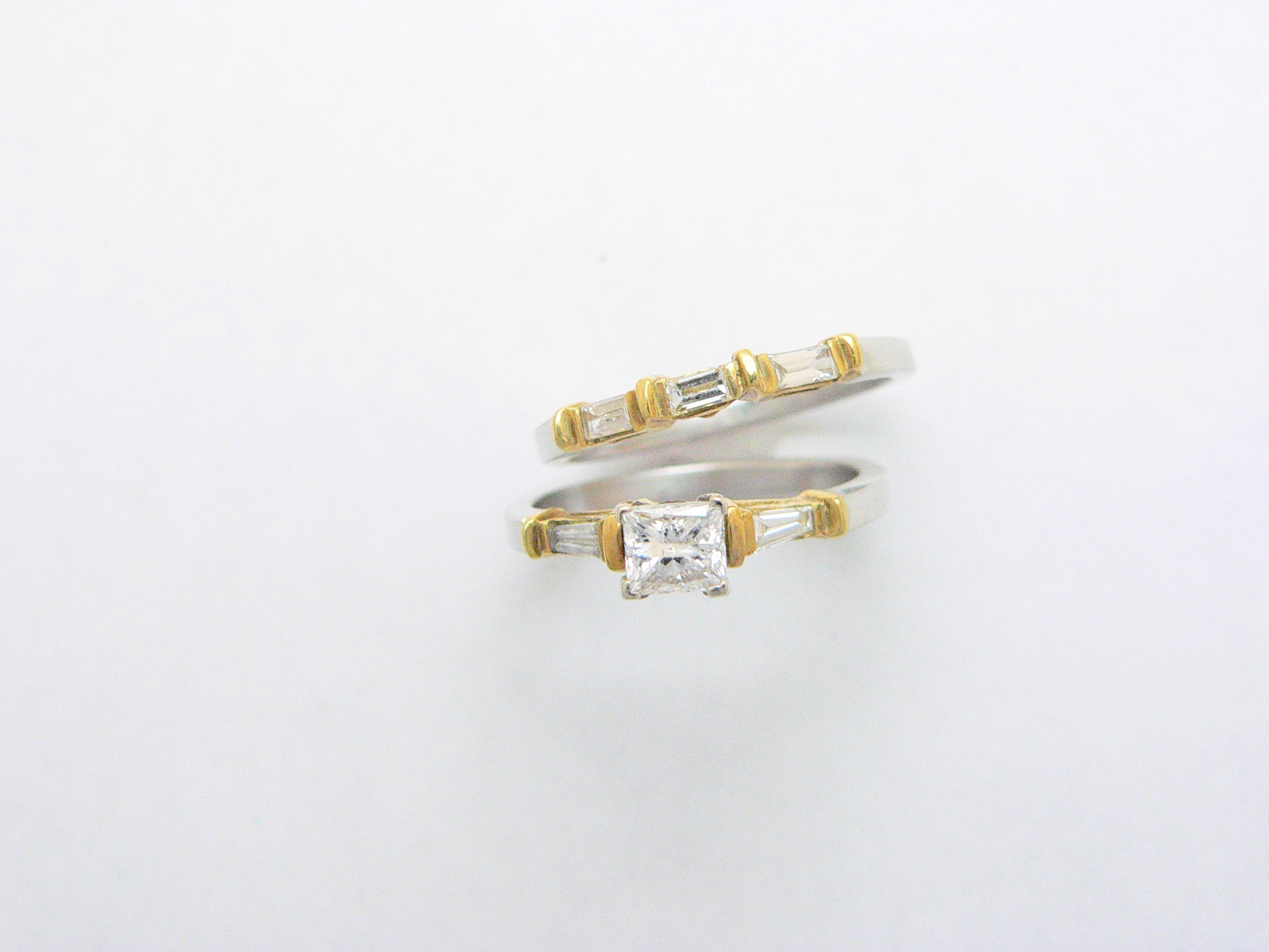 platinum and gold wedding ring set