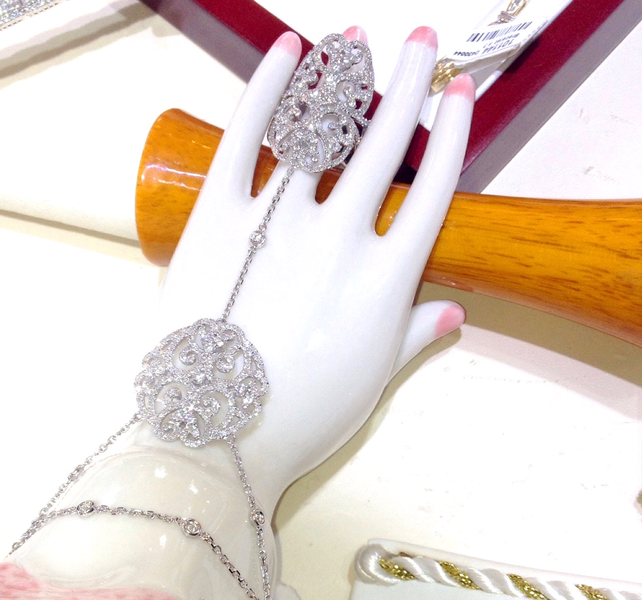 attached ring and bracelet