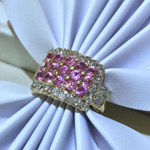 Colored Gemstone jewelry pink saphire ring