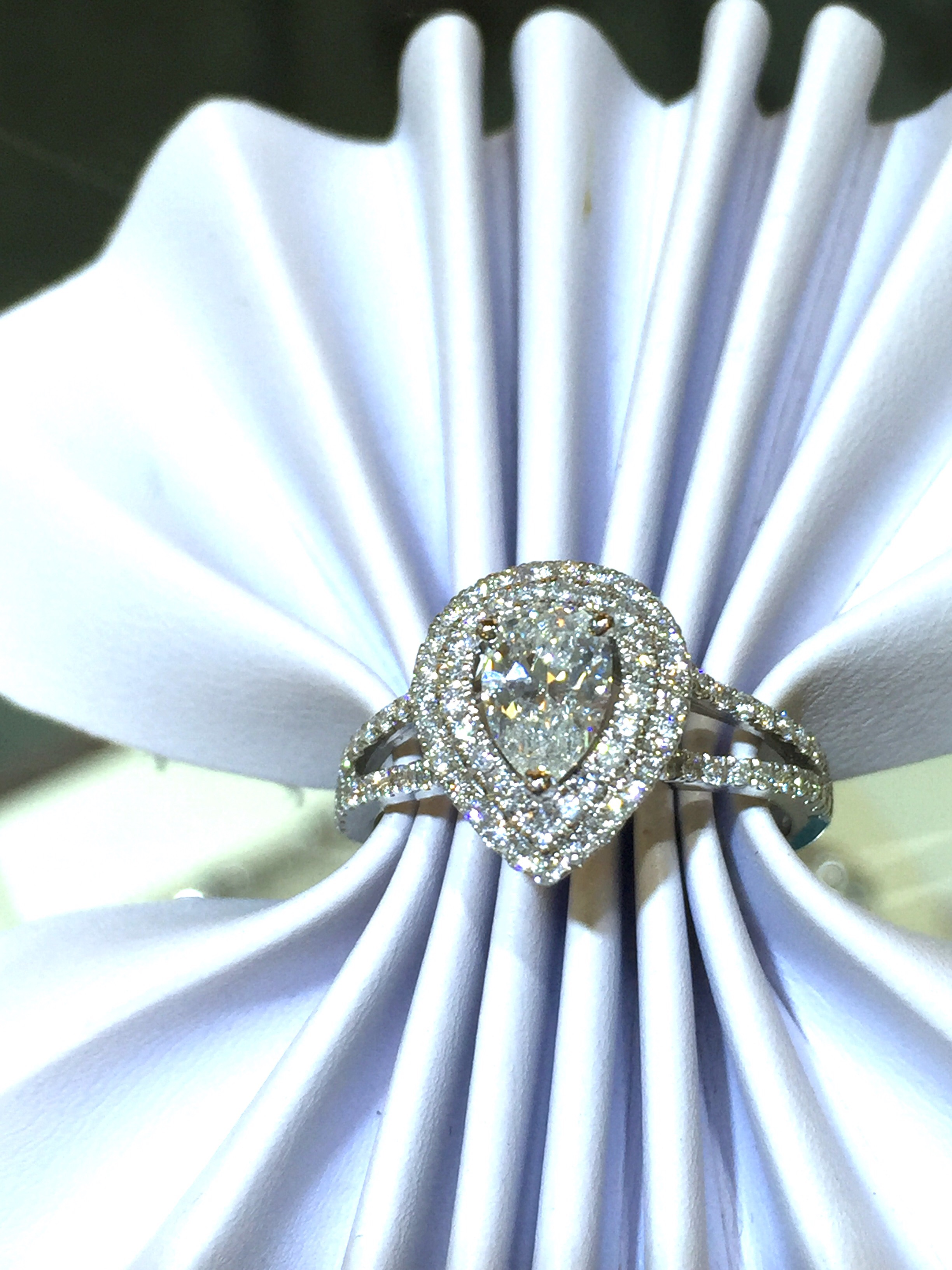 Halo diamond engagement ring N.J. Diamonds Dearborn,MI