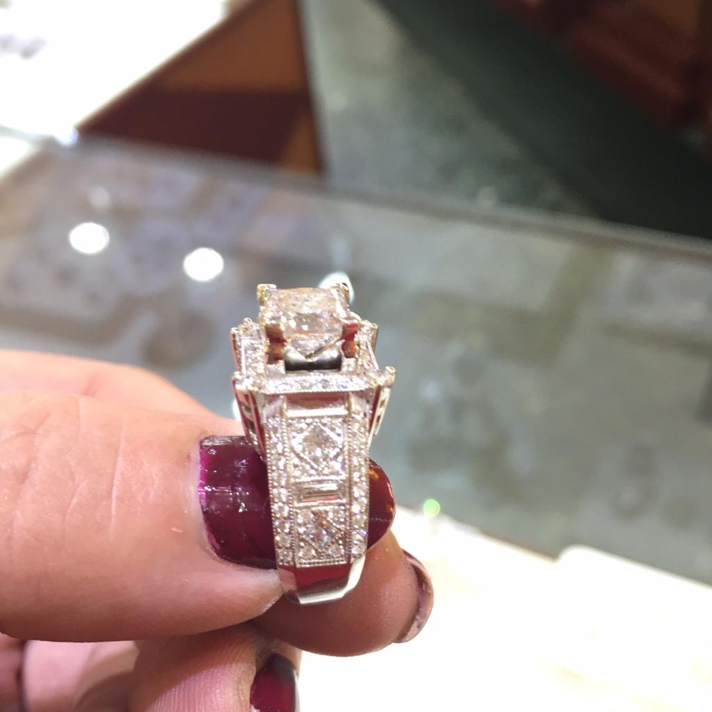 custom design engagement ring N.J. Diamonds