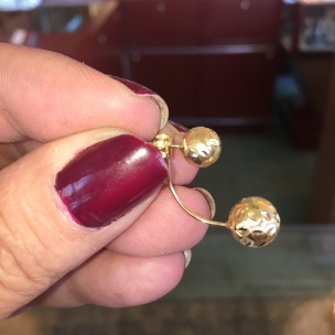 Dearborn Michigan 18kt gold earrings shop today