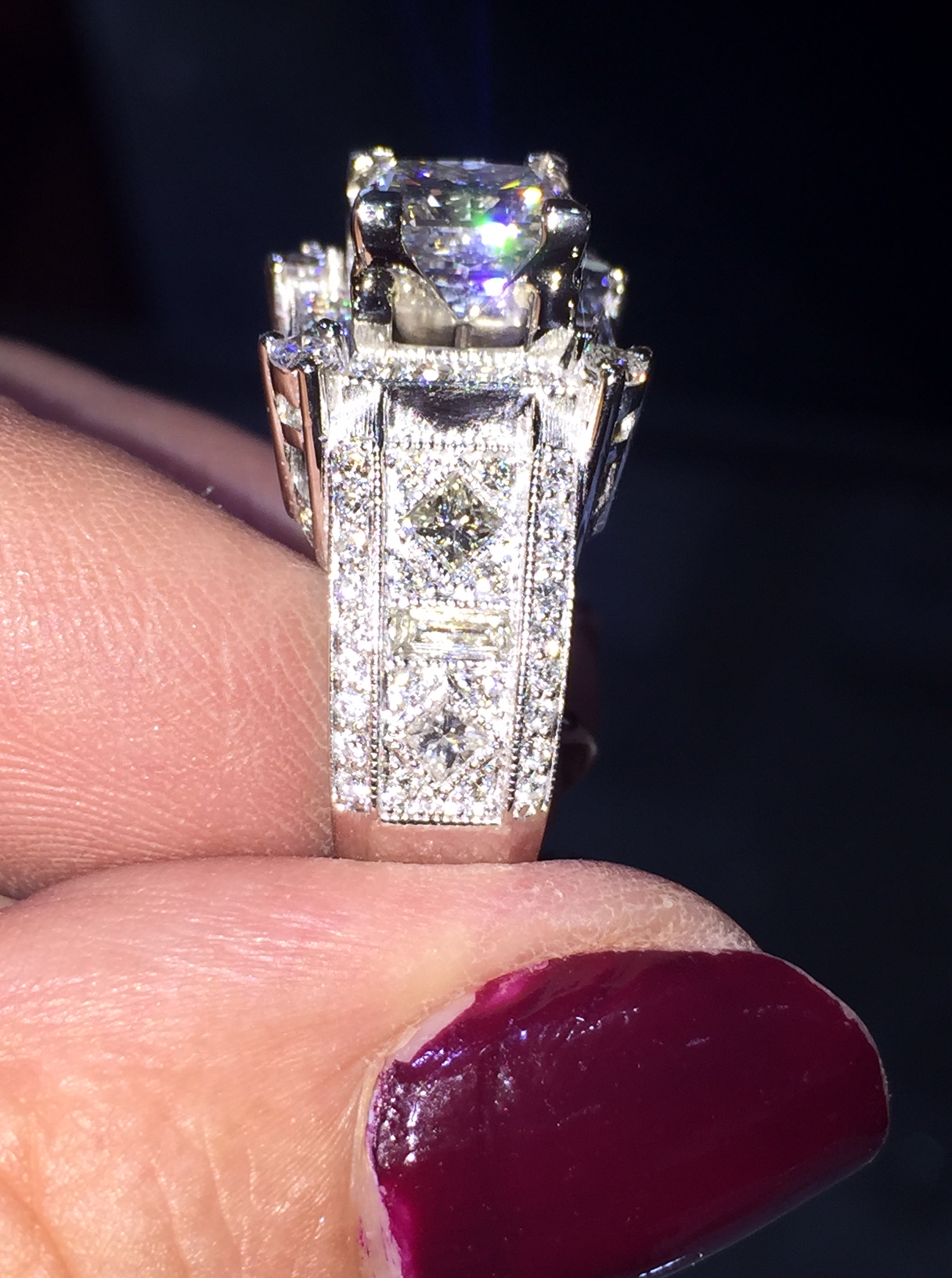 Custom Design diamond engagement ring from N.J. Diamonds