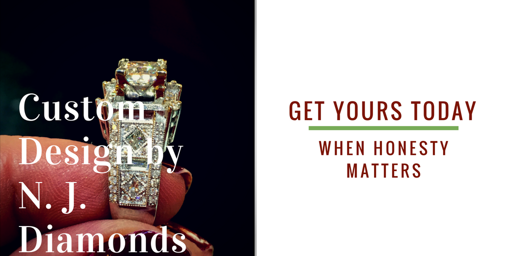 Custom design diamond engagement ring Dearborn, Michigan