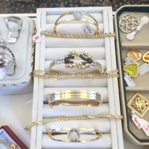18kt two tone bracelets