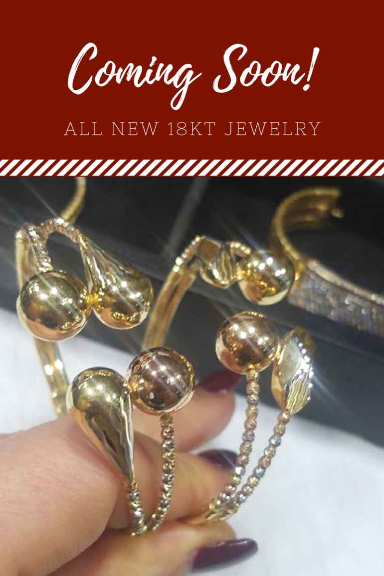 21 and 18 karat gold jewelry all new styles.