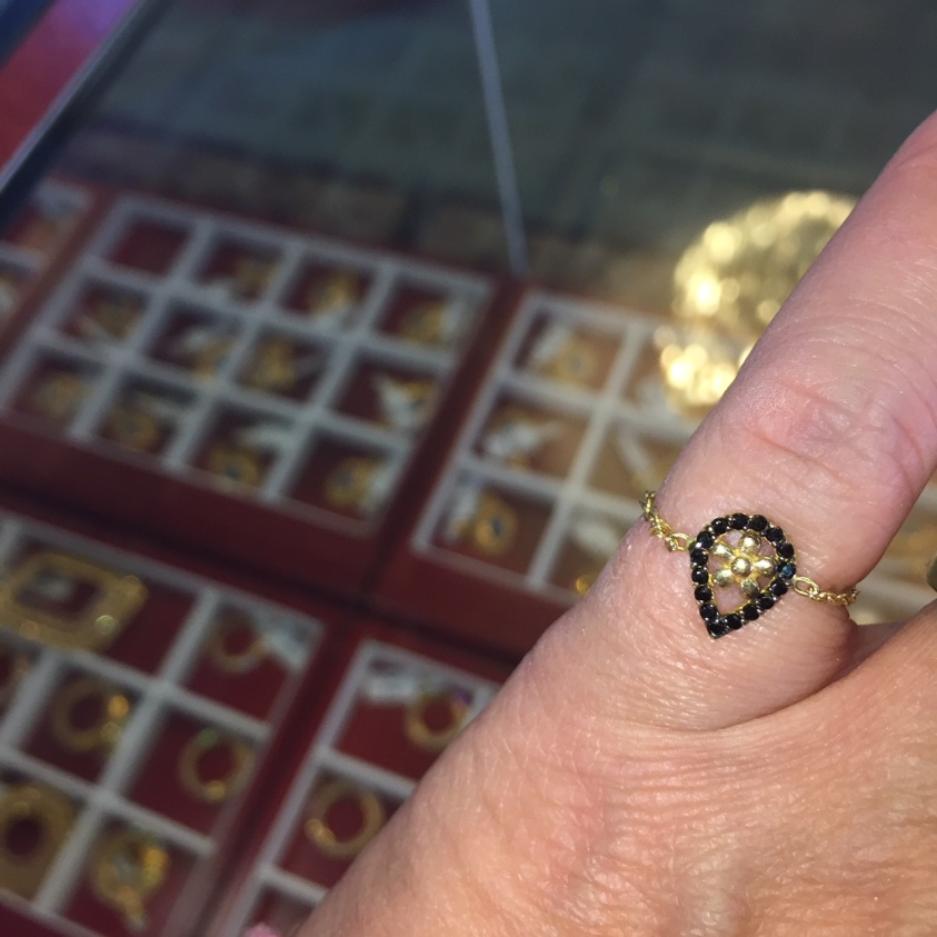 Arab Gold String Ring Chain Ring Dearborn