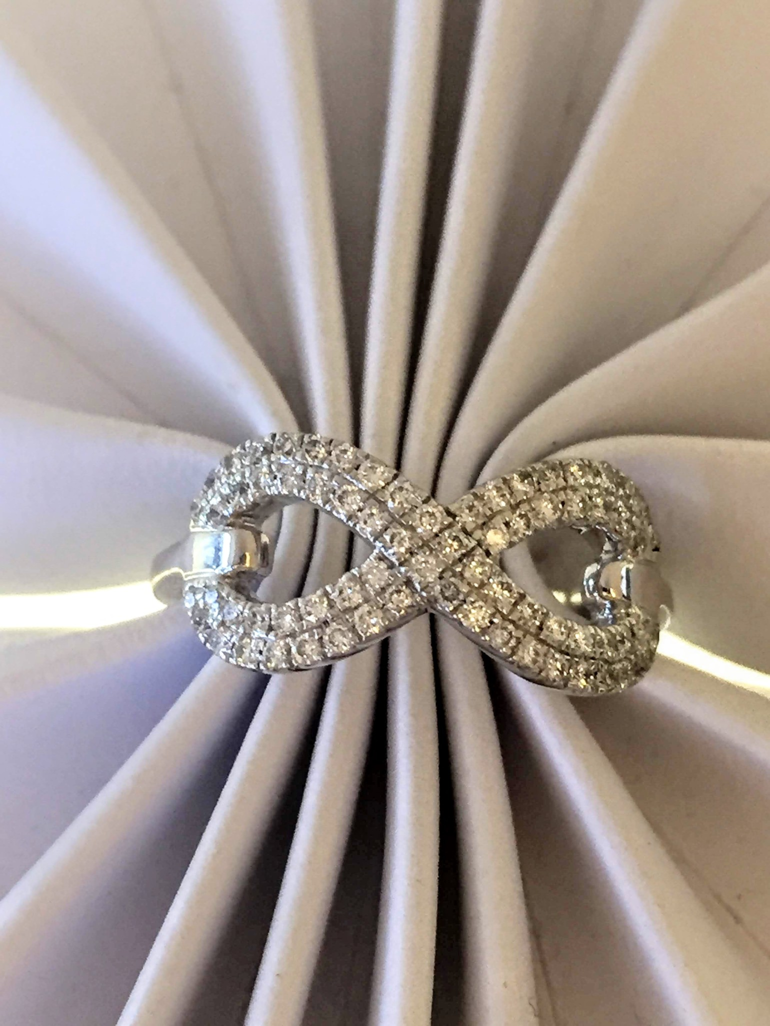 diamond infinity ring perfect promise ring.