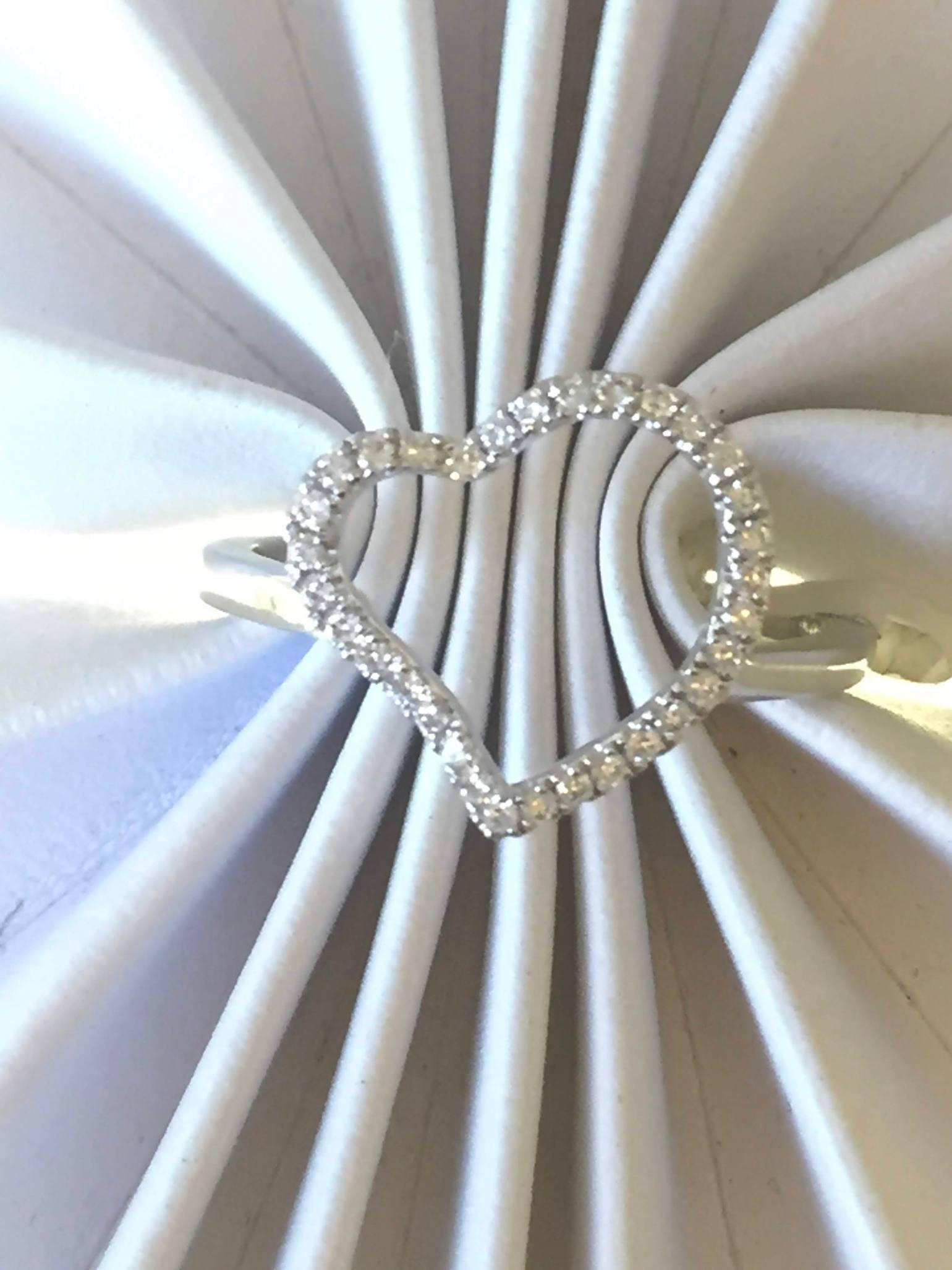 heart diamond ring promise ring.